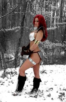 Red Sonja snow