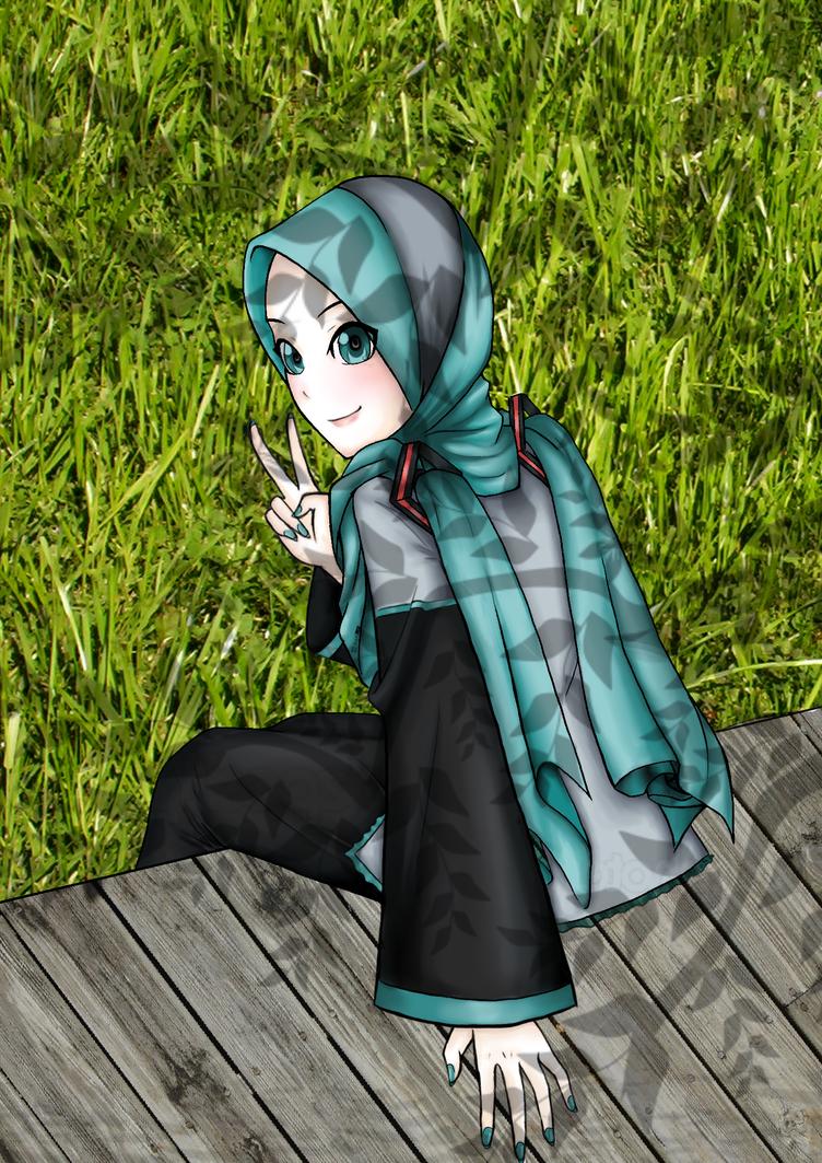 Hatsune Miku Muslimah by GreenCuteGirlyGirl