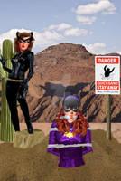 Batgirl in Quicksand Peril!