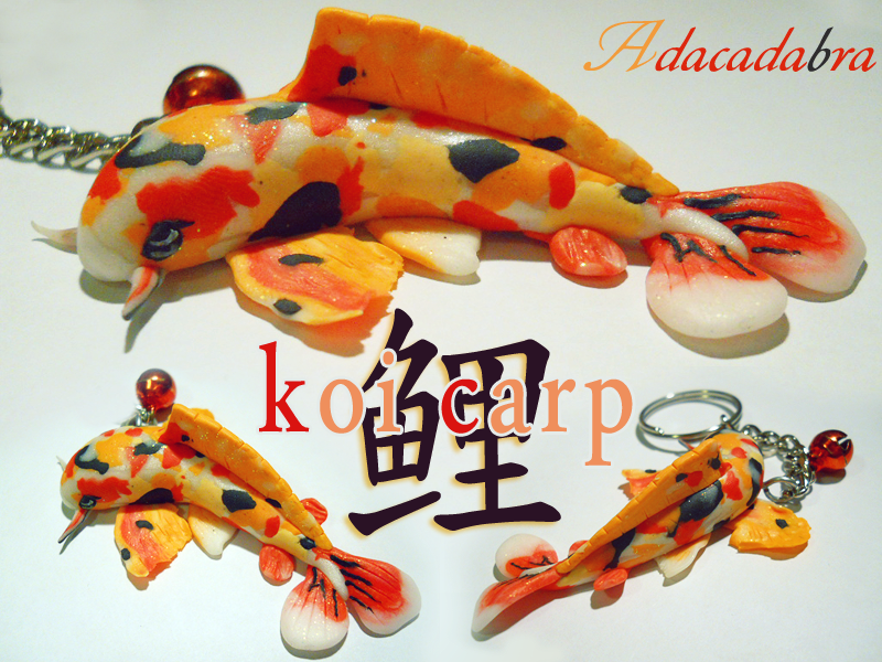 Koi carp polymer clay by adaralbion on deviantart for Clay koi fish