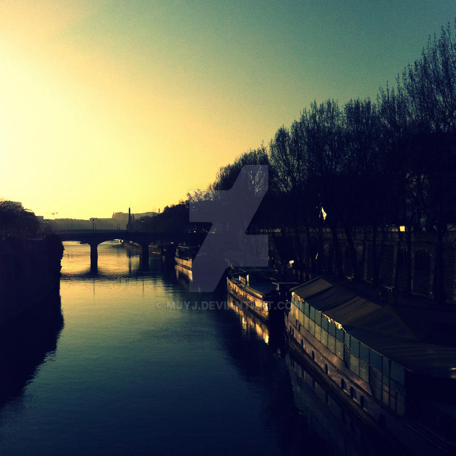 La Seine Sunrise ~ Paris ~ MjYj by MjYj
