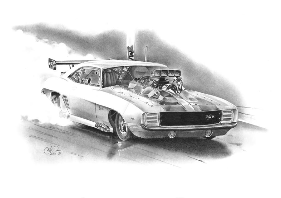Camaro Dragster By Simpsonartistry On Deviantart