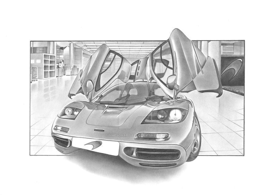 McLaren F1 by SIMPSONARTISTRY