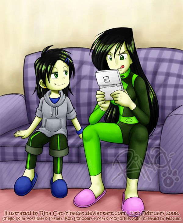 KP: Agni and Shego by rinacat