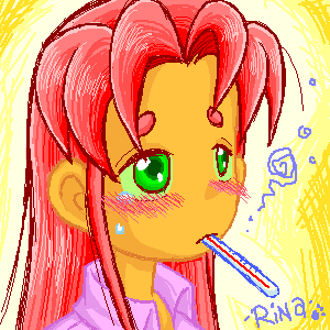 TT - Sick day Starfire by rinacat