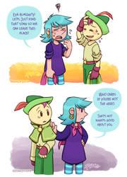 Wandersong: Bard and Miriam doodles 3 by rinacat