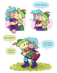 Wandersong: Bard and Miriam doodles 4 by rinacat