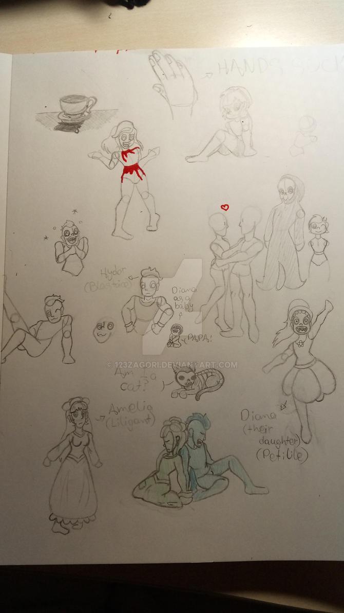Doodle sheet by 123Zagori