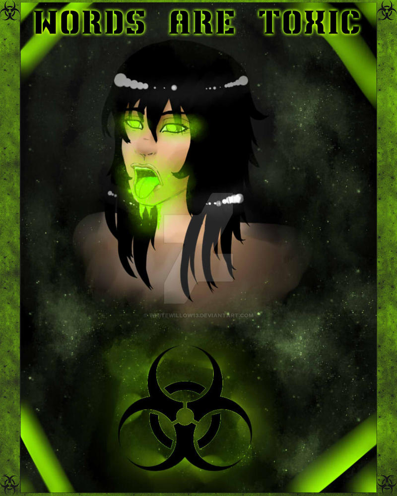 toxic words with frame by whitewillow13 on deviantart