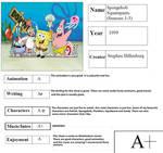 Spongebob Squarepants Season 1-3 Report Card