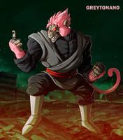 Oozaru Black Goku Rose by Greytonano