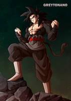 Goku Black SSJ4 V3 by Greytonano