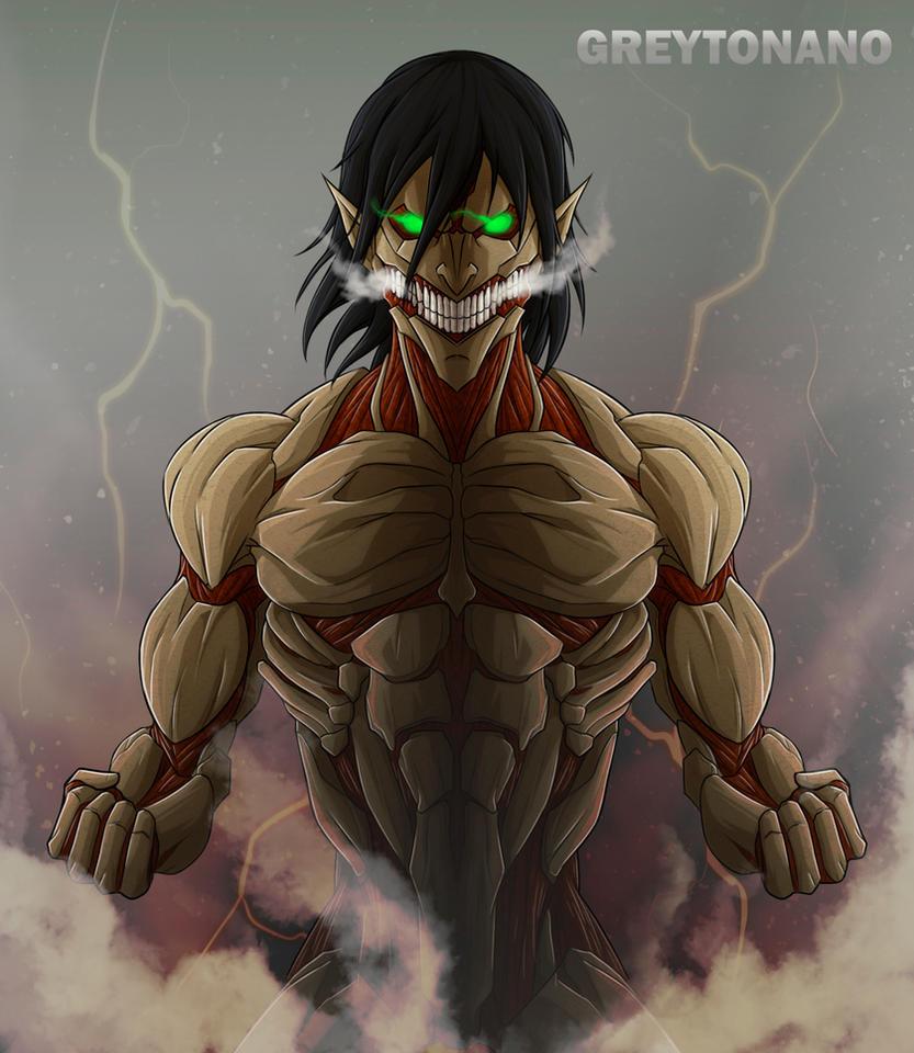 Eren Armored Titan Form by greytonano on DeviantArt