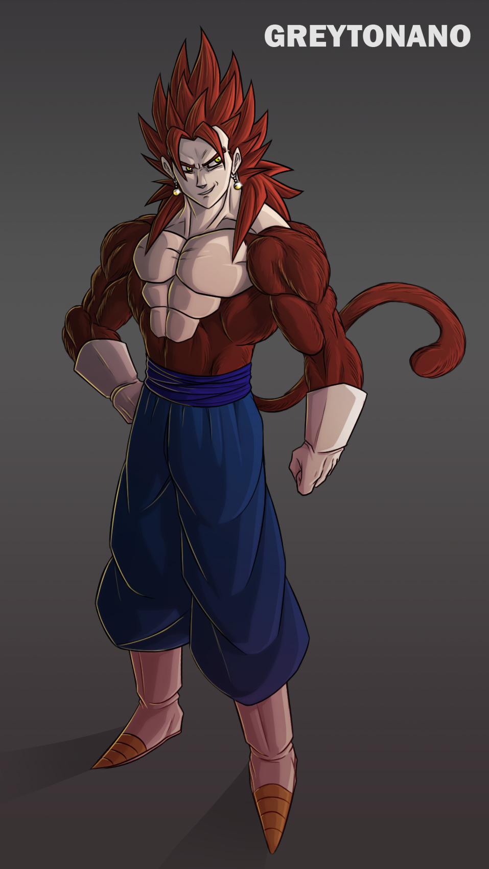 Vegito SSJ4 V2 by Grey...