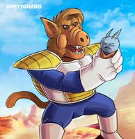 Neko Majin VS Oozaru Alf by Greytonano