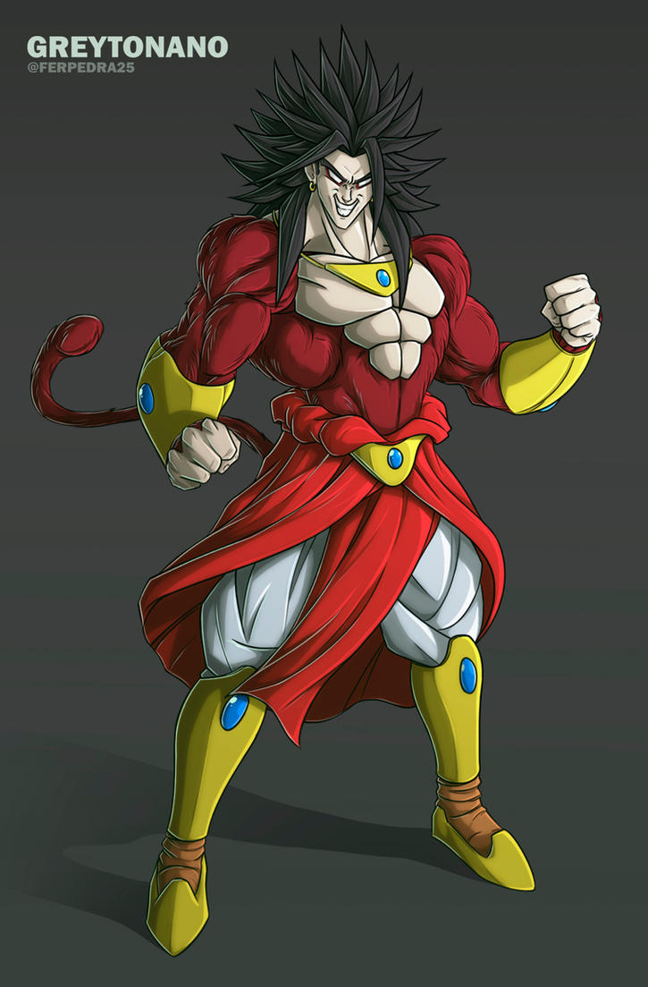 Broly SSJ4 V1 by Greytonano on DeviantArt
