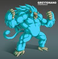 Oozaru SSJ3 Blue Goku by Greytonano