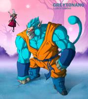 Blue Oozaru Goku by Greytonano