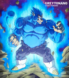 Oozaru Ultra Blue Vegeta by Greytonano