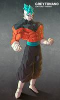 Jiren + Goku V1 by Greytonano