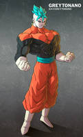 Jiren + Goku V2 by Greytonano