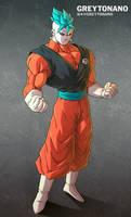 Jiren + Goku V3 by Greytonano