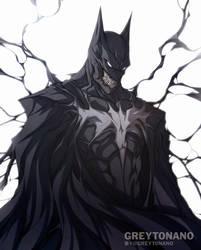 Symbiote Batman by Greytonano