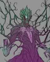 Symbiote Joker WIP by Greytonano