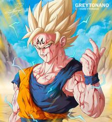 Majin Goku by Greytonano