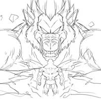 Oozaru UI Goku VS Jiren WIP