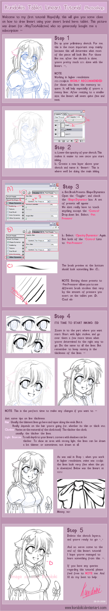 Photoshop lineart tut. by Tutorials101