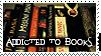 Addicted to books stamp