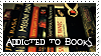 Addicted to books stamp by mitchie-v