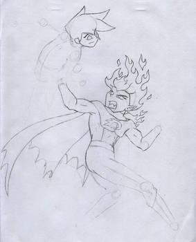 Danny vs D.Dan Progress Sketch