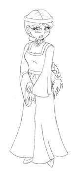Dp-DragonGhost Princess Sketch