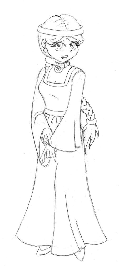 Dp-DragonGhost Princess Sketch by HHB-BookMaster