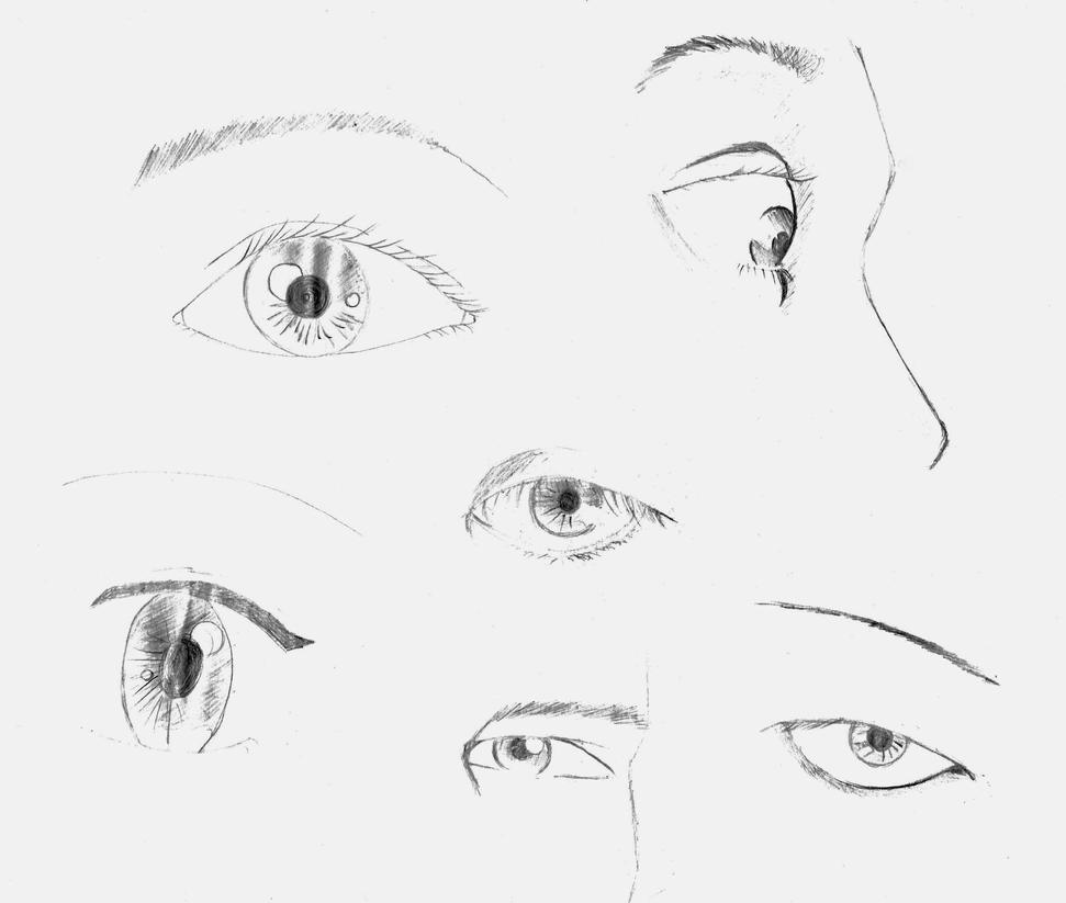 studies 1 - eyes by emy-hobbies