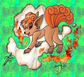 Fire Fox - Vulpix by CarrieJCole