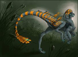 Stone raptor by ObsidianGecko