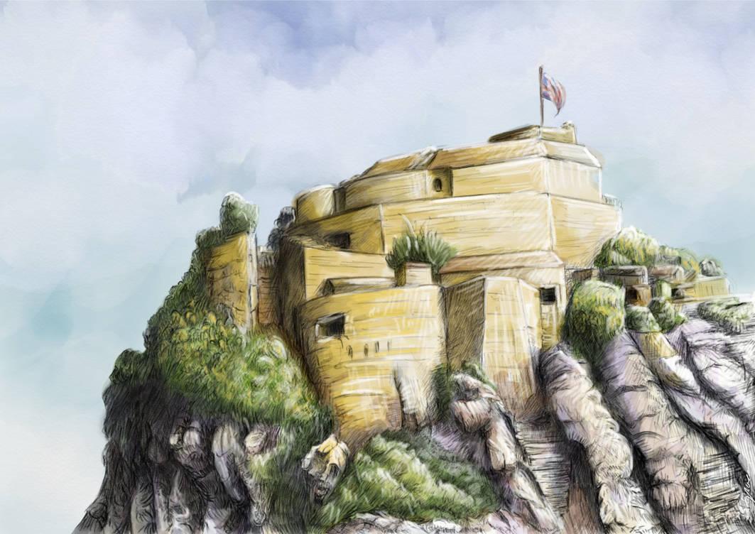 Parishs Lodge, Gibraltar (sketch) by stephenignacio