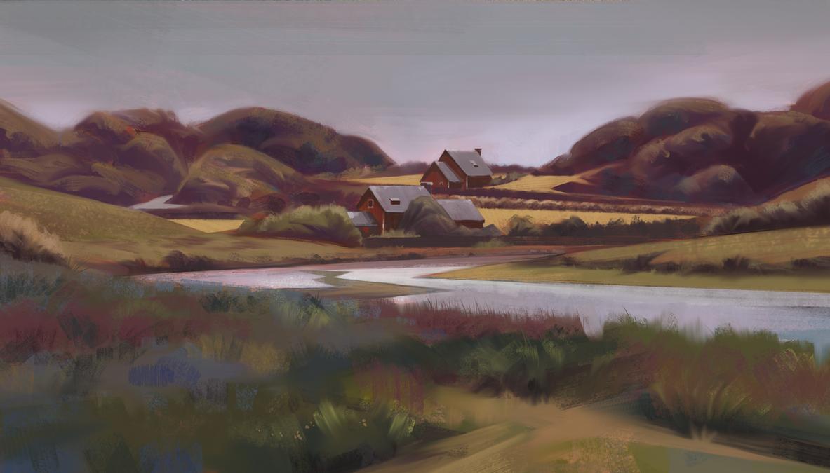 Study 2 - Landscape by JanPhilippEckert