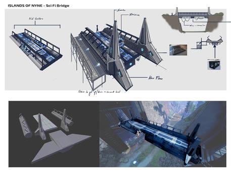 Islands of Nyne - Scifi Bridge - Concept Art