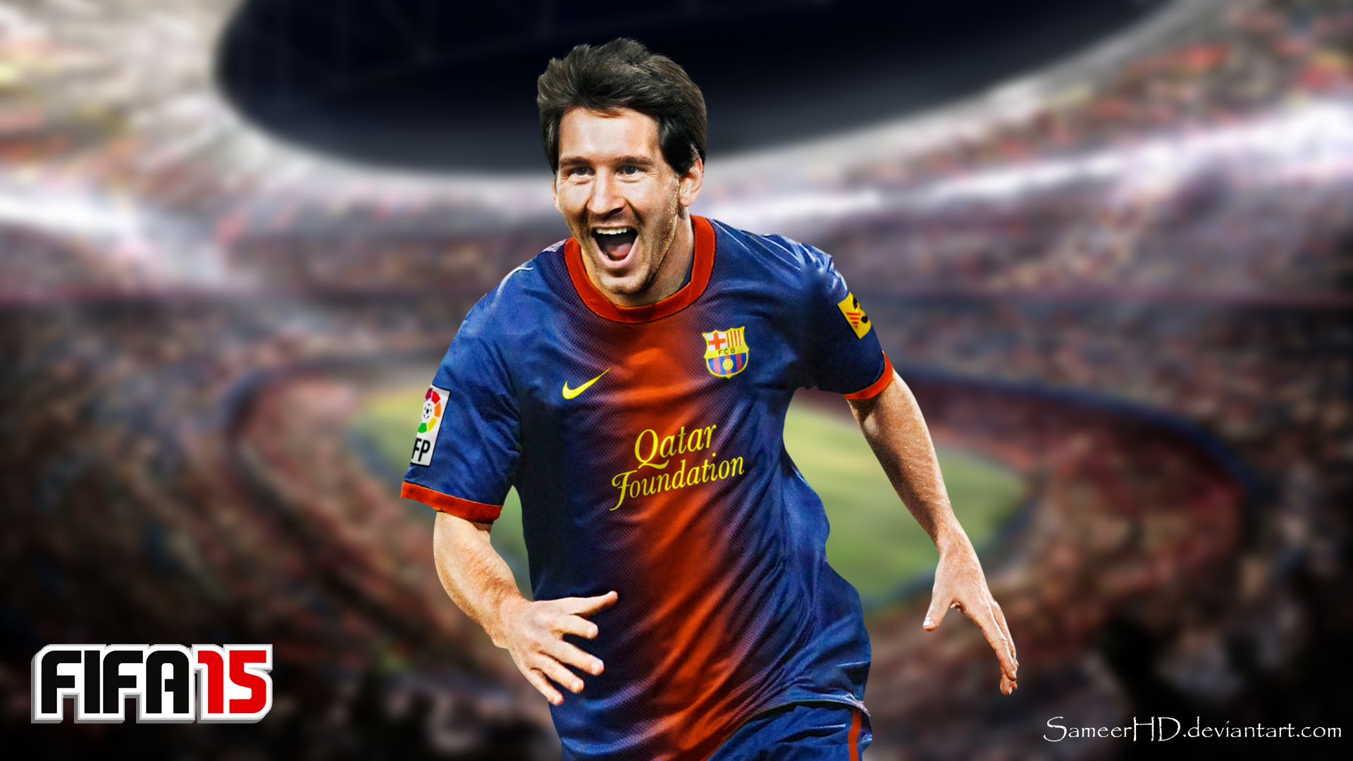 fifa 15 lionel messi wallpapersameerhd on deviantart