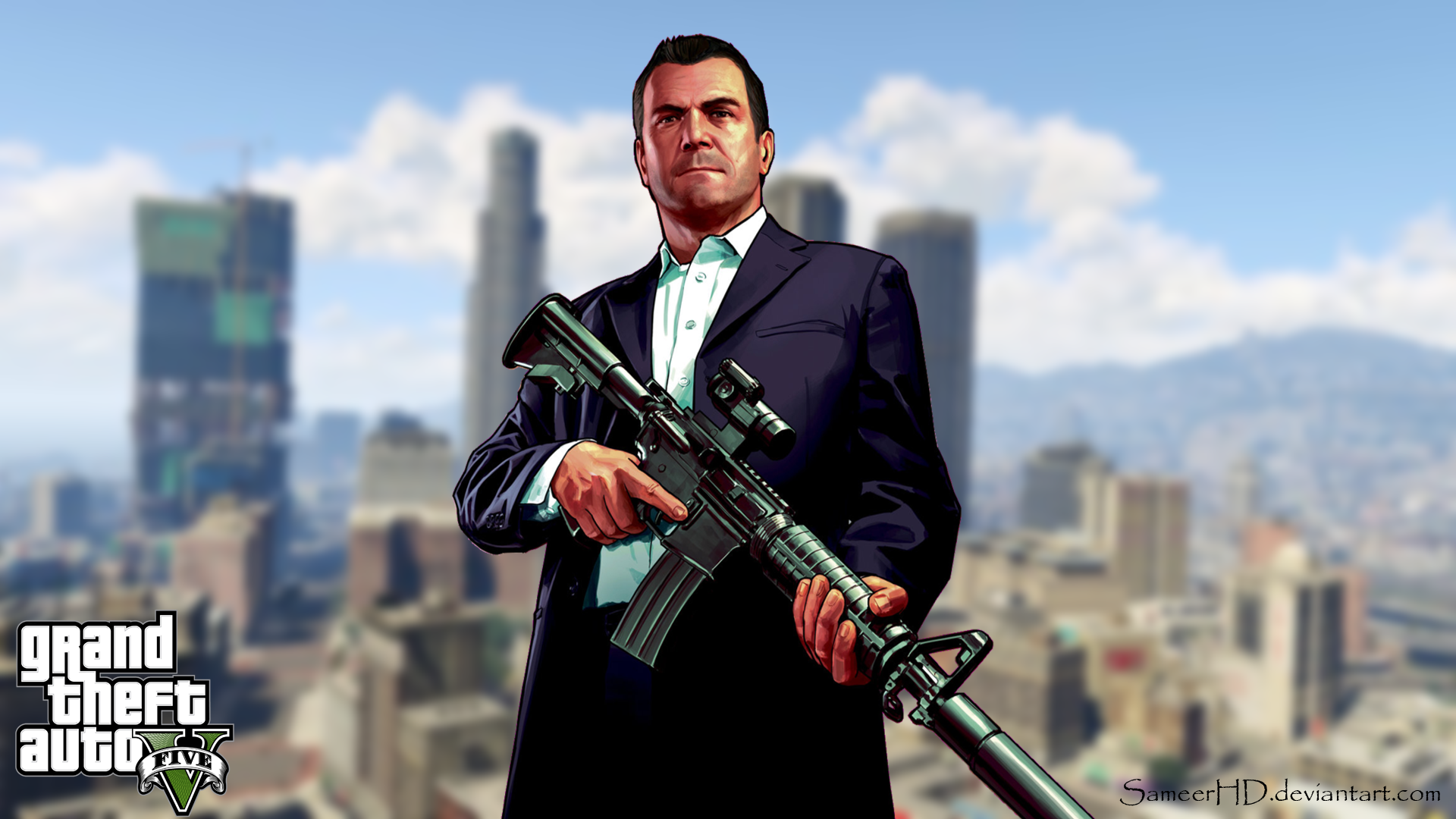 Grand Theft Auto V Michael De Santa Wallpaper by SameerHD ...