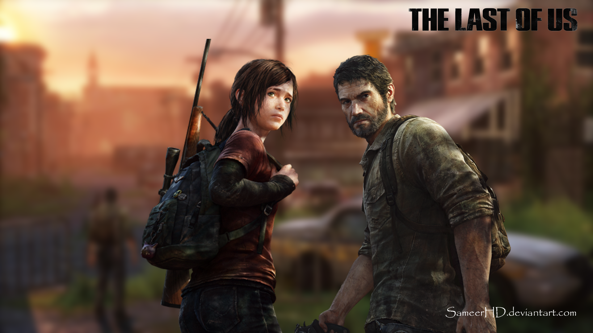 The Last Of Us Joel And Ellie Wallpaper By Sameerhd On Deviantart