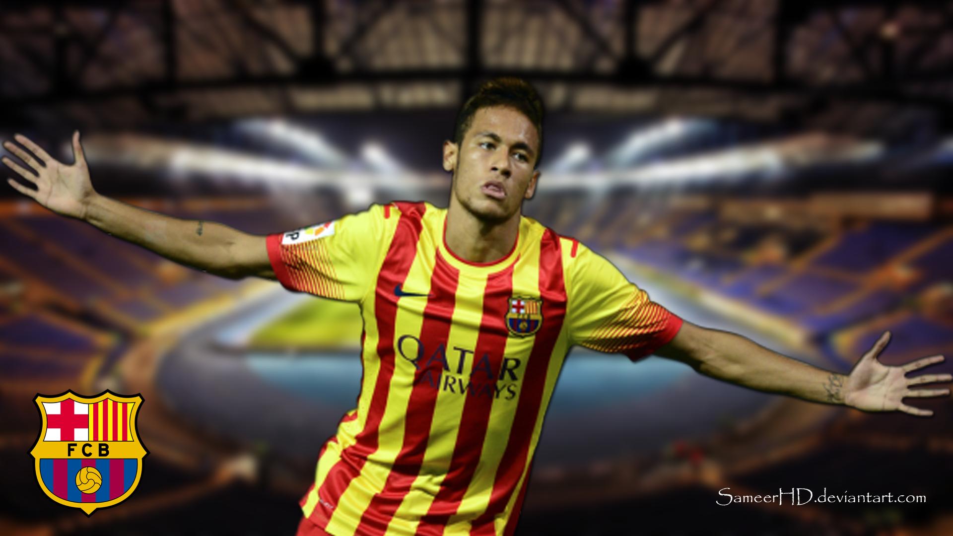 Fc Barcelona Neymar Jr Wallpaper By Sameerhd On Deviantart
