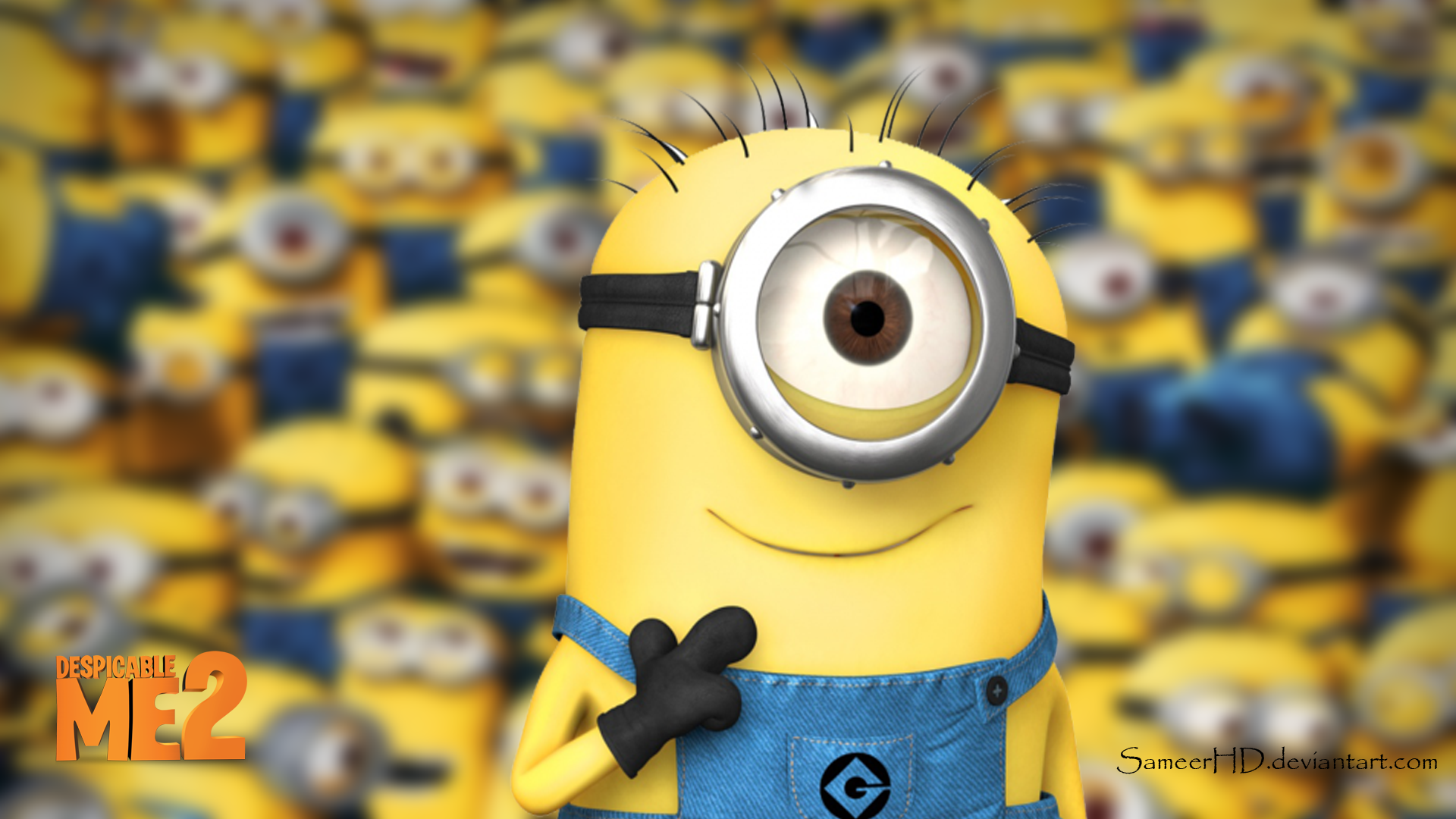 despicable me 2 minion wallpaper by sameerhd d80o8km