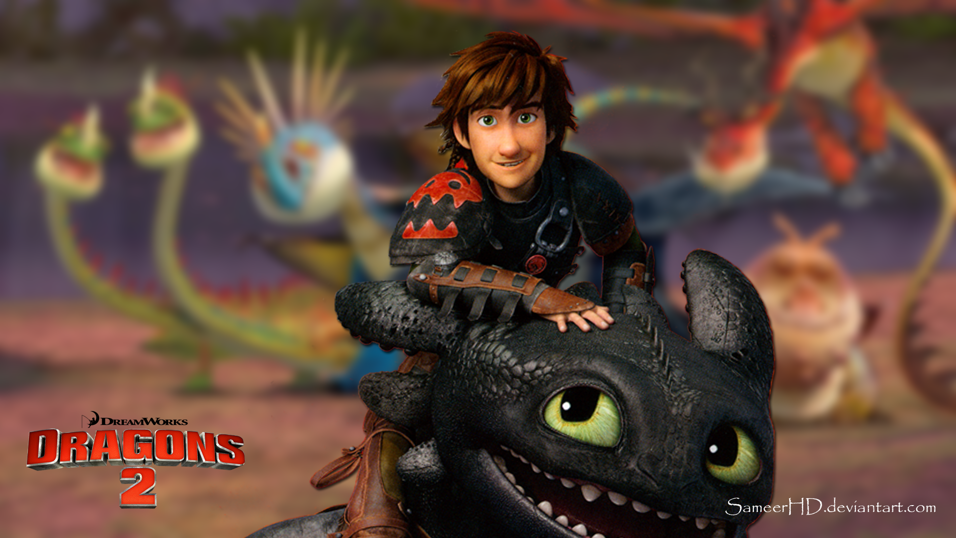 Group Of Hiccup Hd Wallpaper