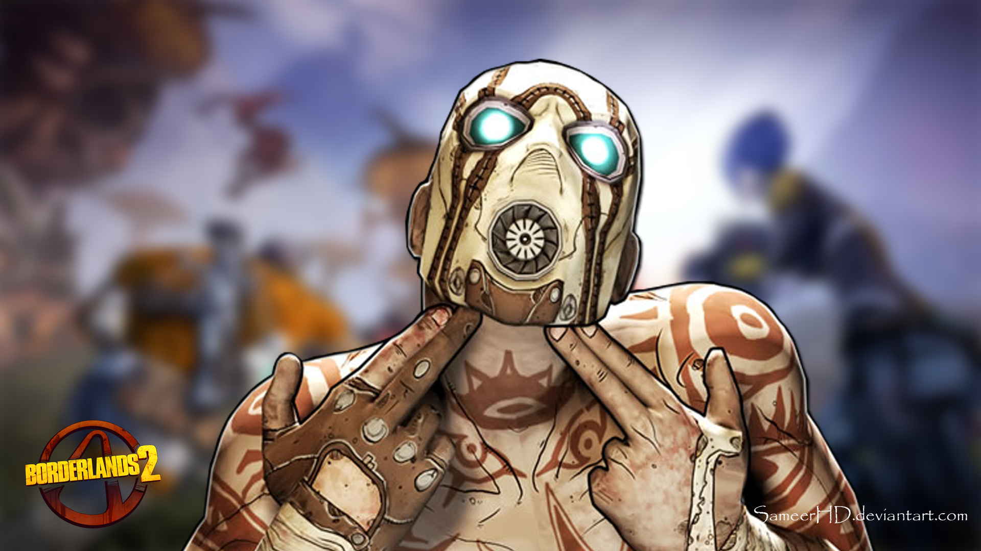 Borderlands 2 Psycho Wallpaper By SameerHD On DeviantArt