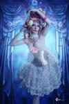 blue curtain yvette
